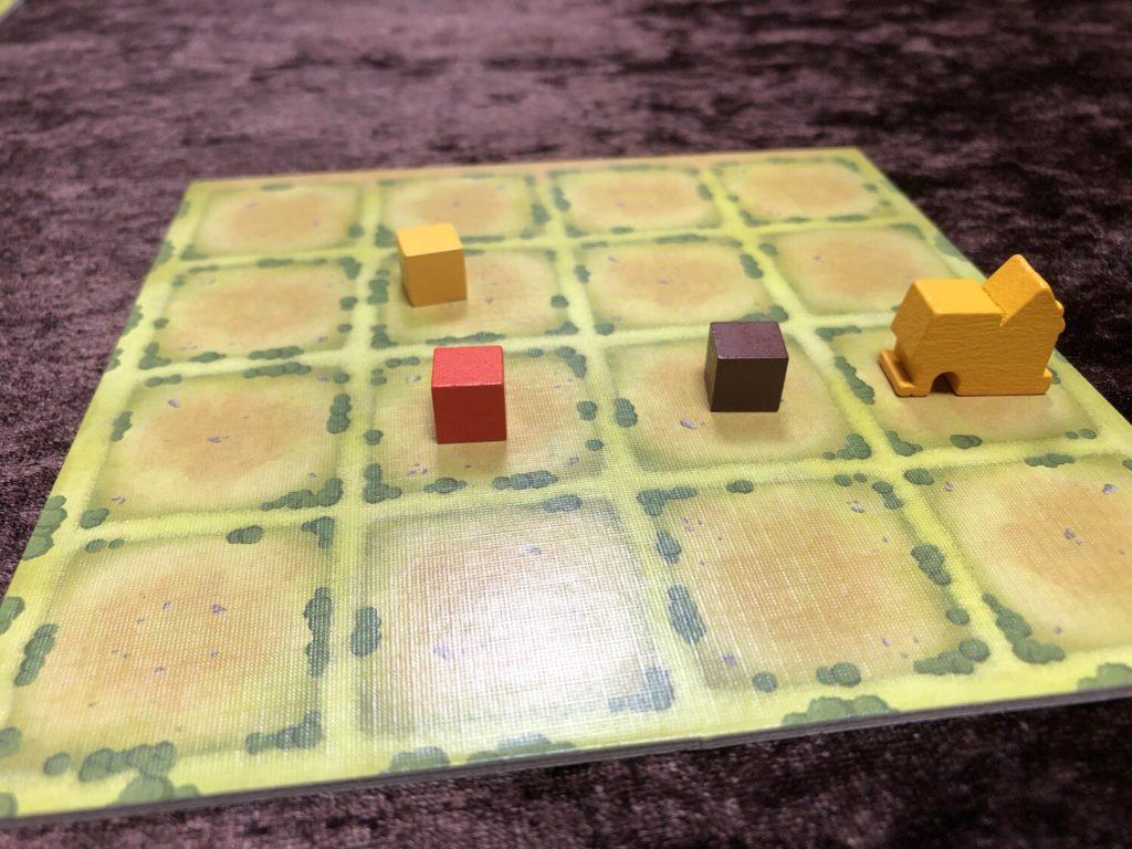 タイニータウン(Tiny Towns)プレイ序盤の様子