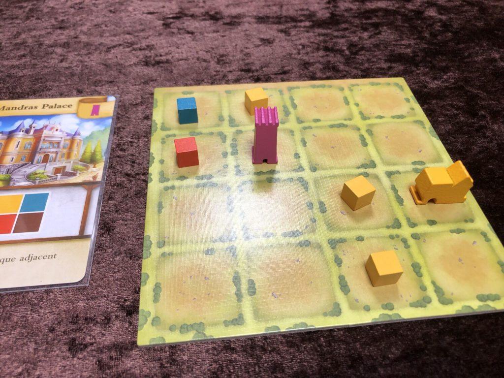 タイニータウン(Tiny Towns)プレイ中盤の様子