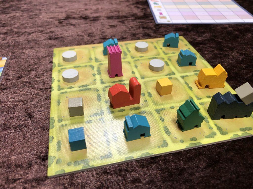 タイニータウン(Tiny Towns)ゲーム終了時の様子
