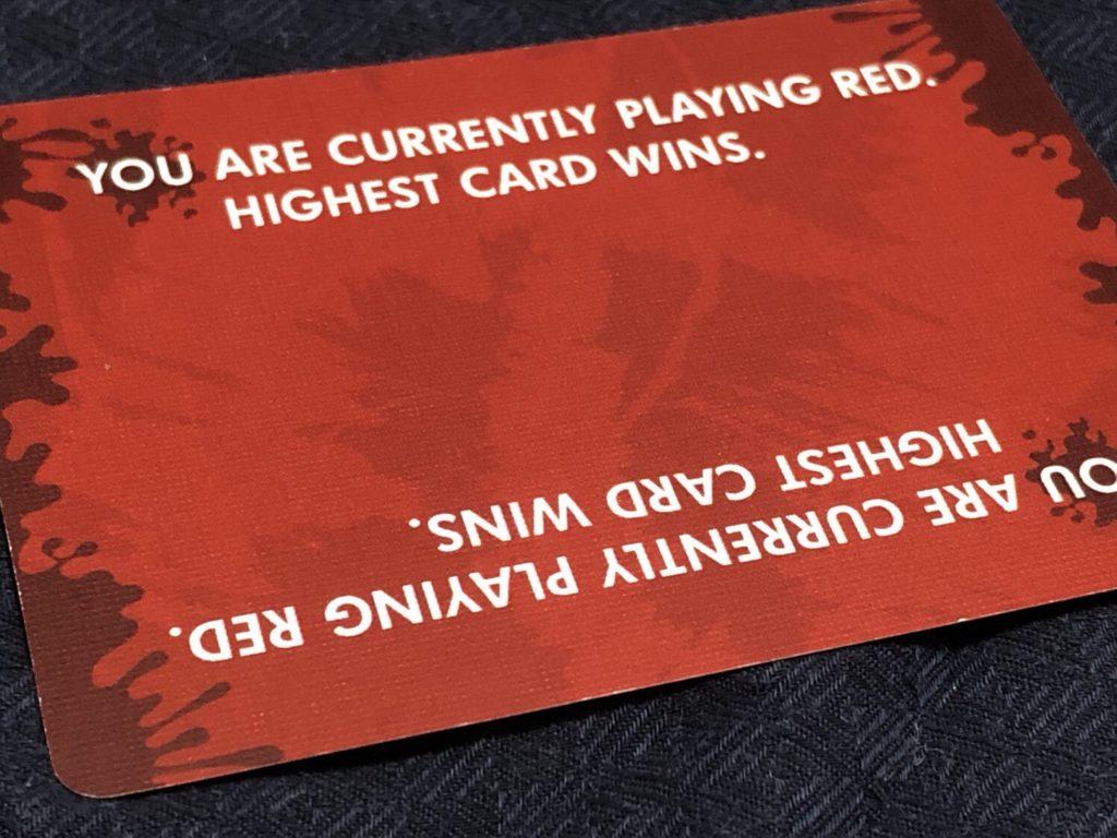レッド7の基本ルールカード