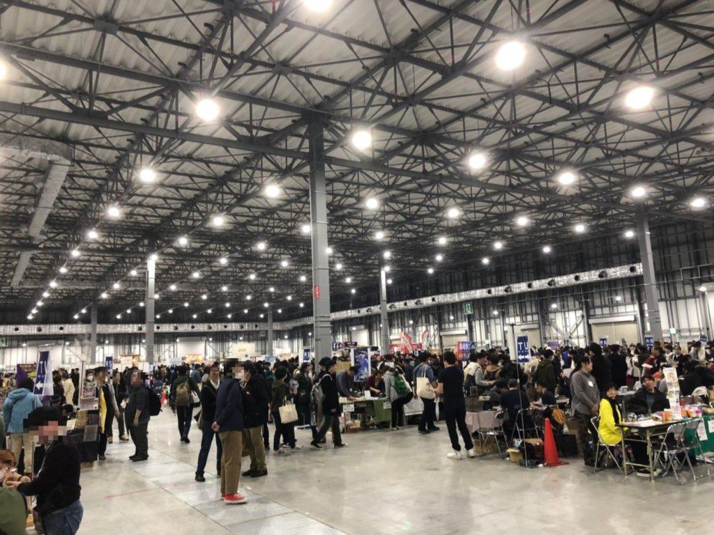 ゲームマーケット2019秋の会場の様子