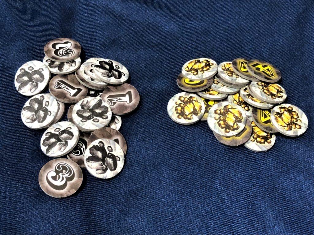 オレゴン(OREGON)の金塊と石炭チップ