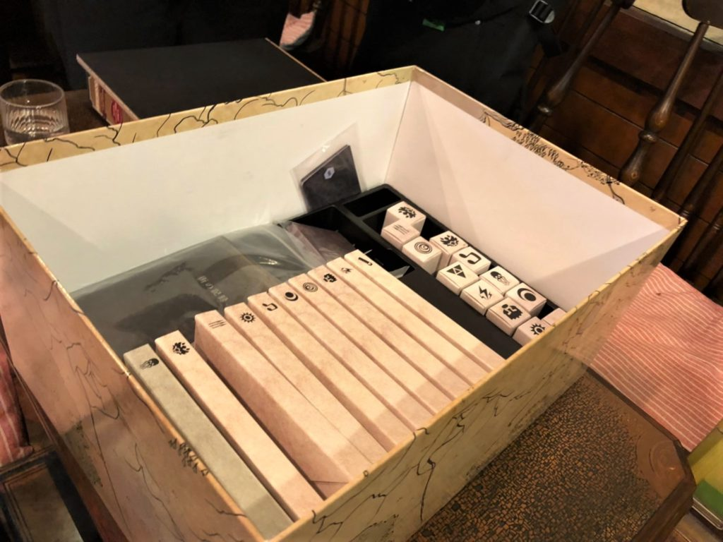 グルームヘイブン(完全日本語版)の内箱に入ったキャラクターボックス