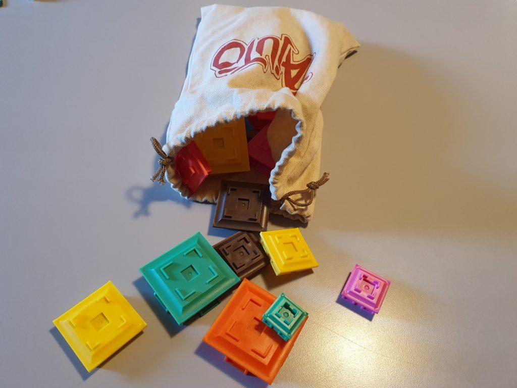 多重塔-Tajutoの袋とパーツ