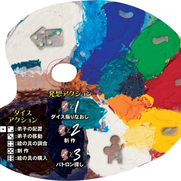 「アトリエ ~巨匠たちのスタジオ~ 完全日本語版」のパレット