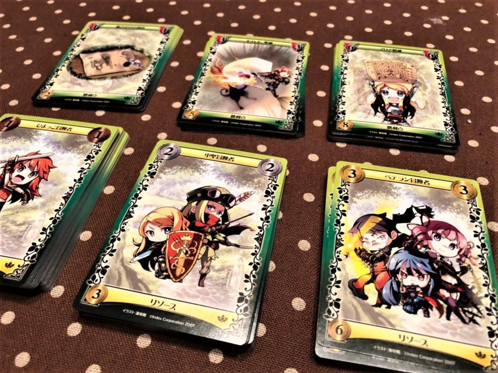 世界樹の迷宮ドミニオンの基本カード