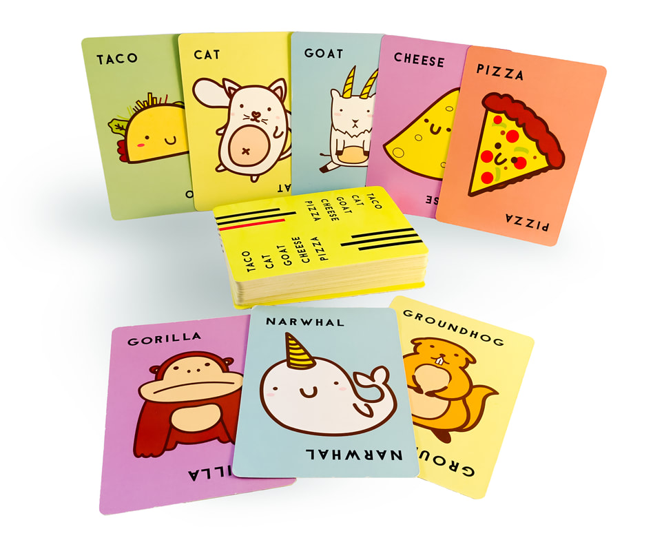 「タコ ネコ ヤギ チーズ ピザ」(海外版)のコンポーネント