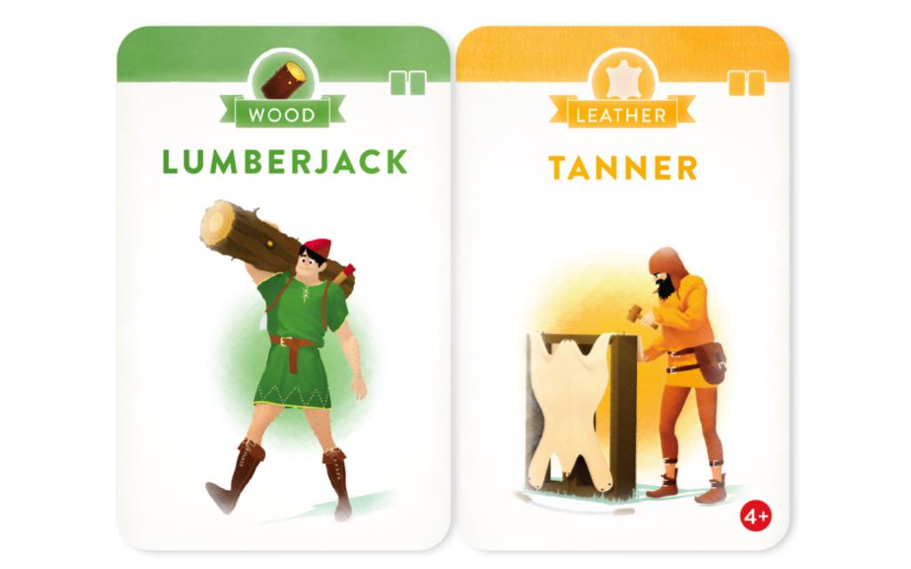 「ヴィレジャーズ」のカード(LumberjackとTanner)