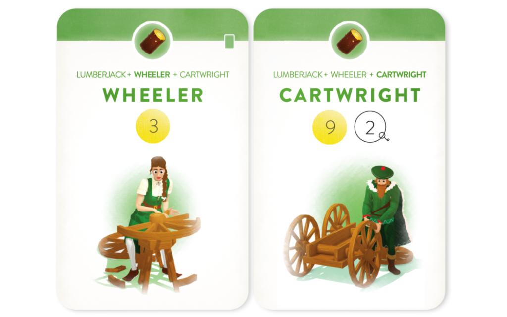 「ヴィレジャーズ」のカード(WheelerとCartwright)