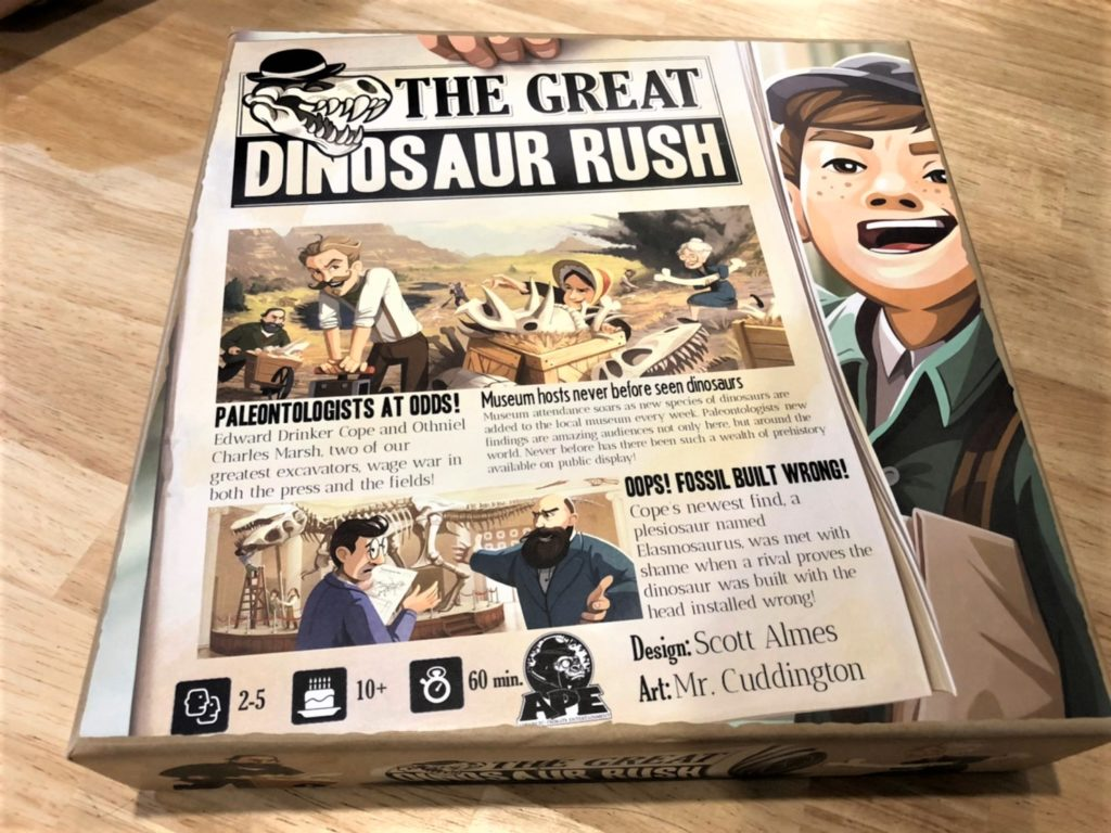 「グレート・ダイナソー・ラッシュ」(The Great Dinosaur Rush)のボックスアート