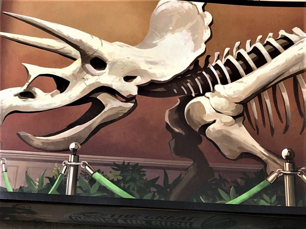 「グレート・ダイナソー・ラッシュ」(The Great Dinosaur Rush)のトリケラトプスのイラスト