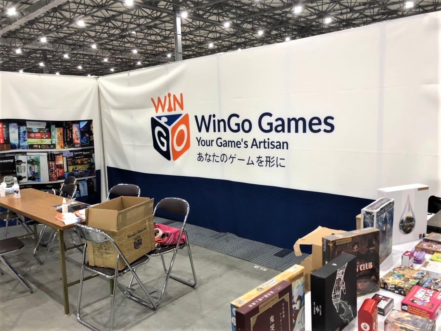 ゲームマーケット2020秋「WinGo Games」のブース