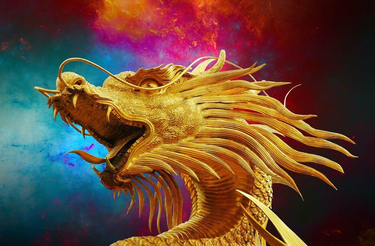 金色のドラゴン