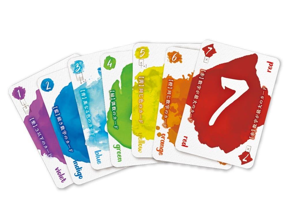レッド7日本語版のカードデザイン
